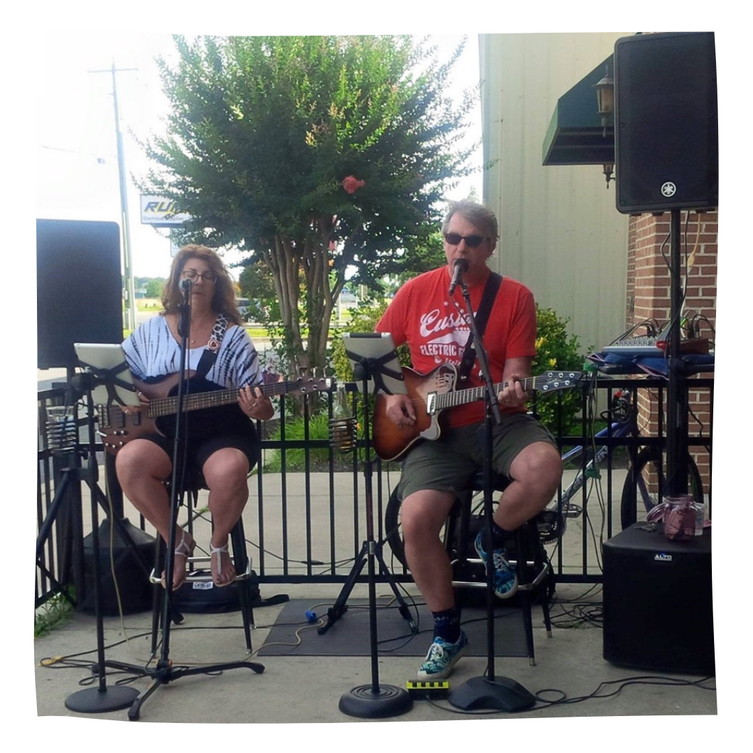 Chris and Dave at Revelation Beer Garden at Whitehall (Middletown)