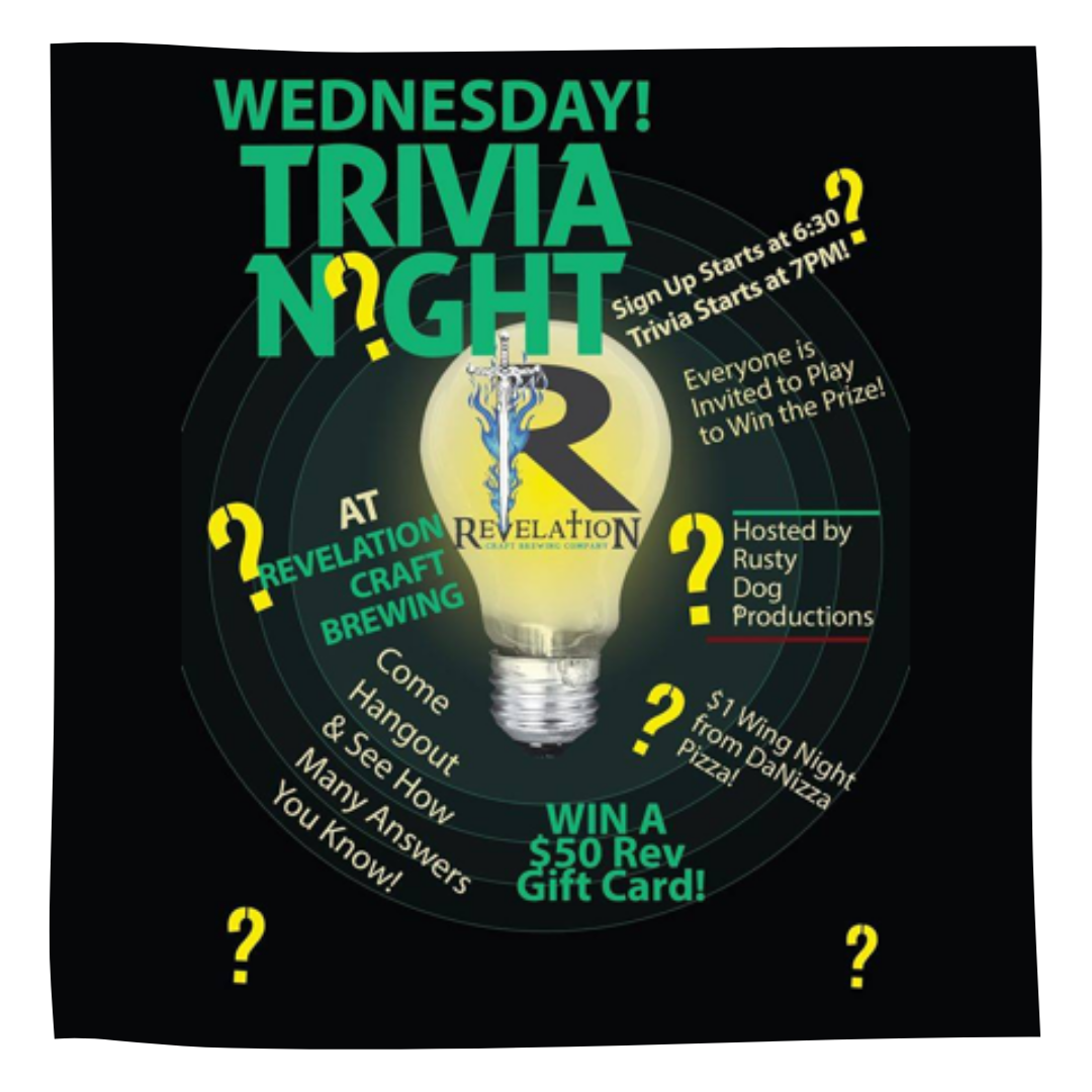 Rev Beer Wednesday Trivia Night!