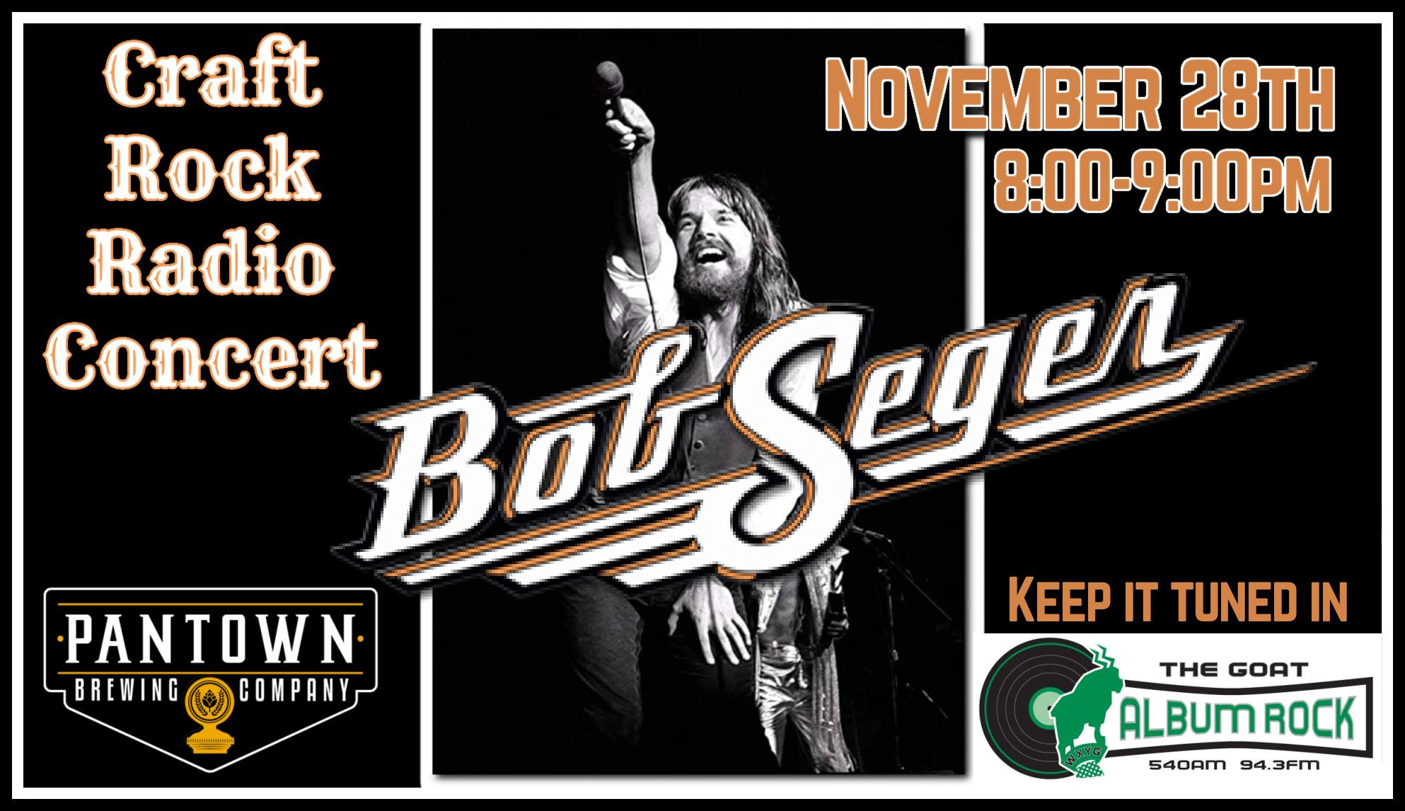 Craft Rock Radio Concert: Bob Seger